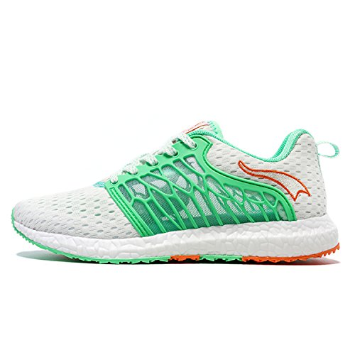 Onemix Maglia Scarpe da Ginnastica Basse Sportive Outdoor Tennis Running Sneakers Donna Uomo Unisex Adulto Bianco / Verde