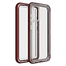 LifeProof Custodia Serie Next Resistente a Caduta, Polvere e Neve, per Samsung Galaxy S20, Rosso/Trasparente