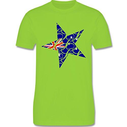 Länder - Australien Stern - Herren Premium T-Shirt Hellgrün