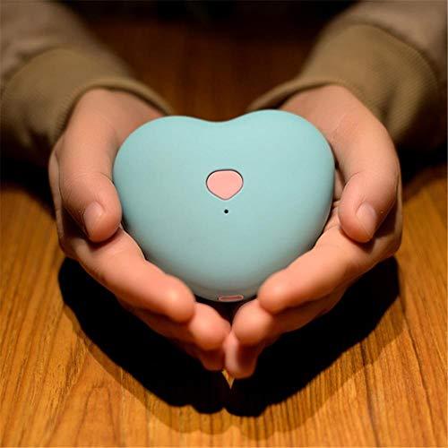 Multifunktions-Handwärmer in Herzform. Tragbarer Ladeschatz. Mini-Handwärmer zum Laden und Heizen