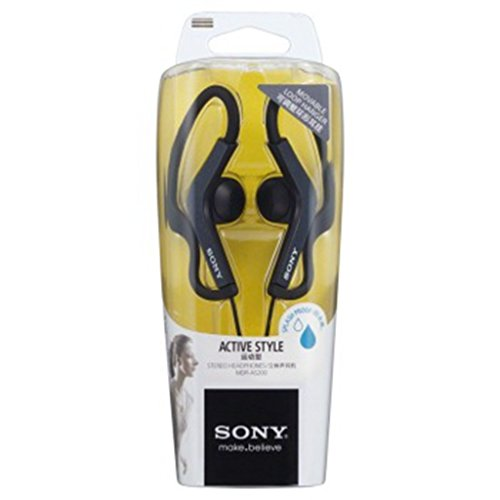 Sony MDR-AS200 Clip On Active Sport Lightweight Angled Earbud Headphones BLACK