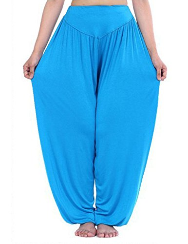 HOEREV Brand Morbida Marcamodale Spandex Pantaloni Harem Yoga / Pilates Giallo