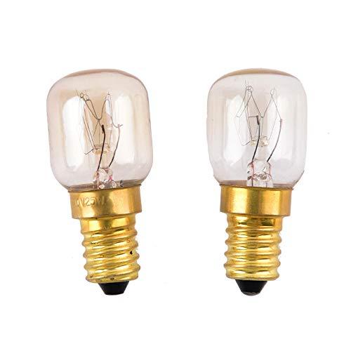 2 stücke 220 v-240 v Hohe temperatur 15 Watt / 25 Watt / 300 Grad SES E14 OFEN toaster/dampf GLÜHBIRNEN Glühlampen