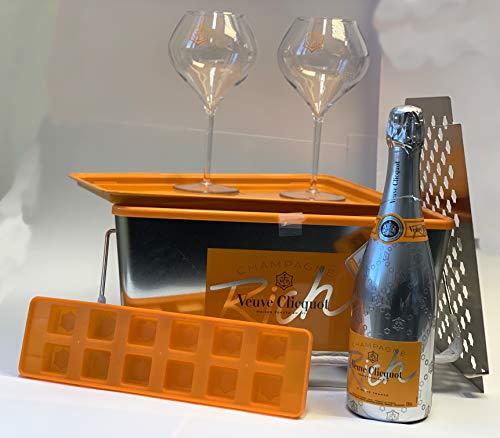 "Veuve Clicquot \""Do Rich Yourself\"" Picknick Set 0,75l Champagner + Gläser 12{b4f43f0b3a75fdb329c99062e8cc2034187d52a455cb5987594500ce831c71c7} Vol"