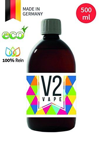 V2 Vape Demineralisiertes Wasser gereinigtes Wasser deionisiert, vollentsalzt für die Herstellung von E-Liquid Shisha-Liquid mit besonders hoher Reinheit und Geschmack 500ml