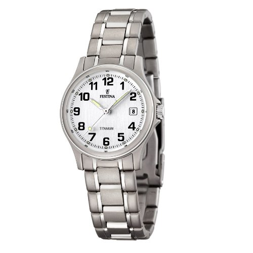 FESTINA F16459/1 - Reloj de mujer de cuarzo, correa de titanio