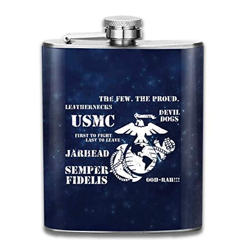 Marine Corps Flachmann Taschenflasche aus Edelstahl, 7 Unzen ()