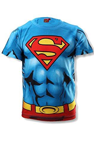 Offizielle Superman Jungen Kostüm-Druck-T-Shirt Top Alter 3 bis 8 Jahre