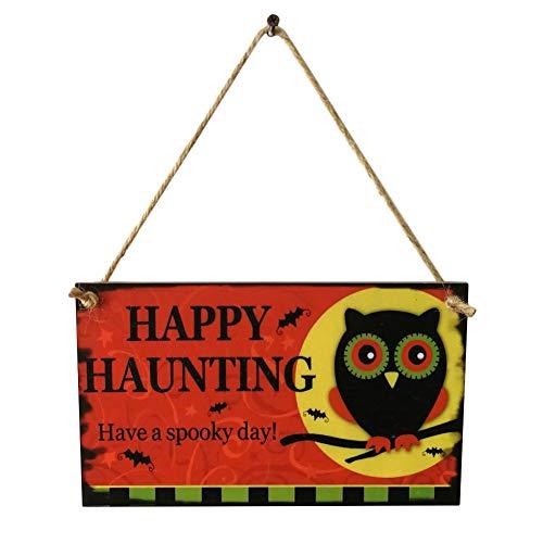 afel, Lustige Holzschild Wandtafel Shabby Chic Geburtstag Anlass Holztür Zeichen Für Halloween Theme Party Festival Spukhaus Dekoration Geschenk ()