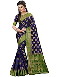 Traditional Fashion Women's Kanjivaram Art Silk Saree With Blouse Piece (Tfs706_Rr,Multicolor,Free Size)