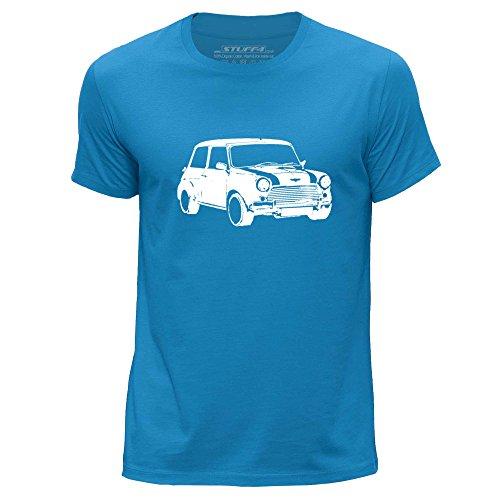stuff4-hommes-moyen-m-bleu-col-rond-t-shirt-stencil-art-de-voiture-mini
