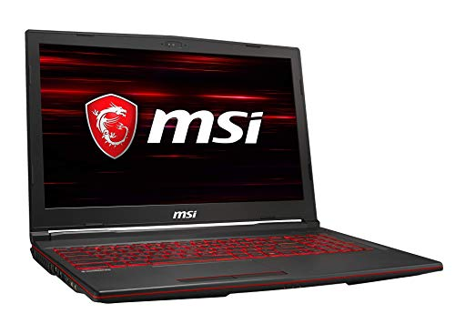 MSI GL63 8SC-021DE (39,6 cm/15,6 Zoll) Gaming-Laptop (Intel Core i5-8300H, 8  GB RAM, 256  GB PCIe SSD + 1 TB HDD, Nvidia GeForce GTX 1650 4  GB, Windows 10 Home)