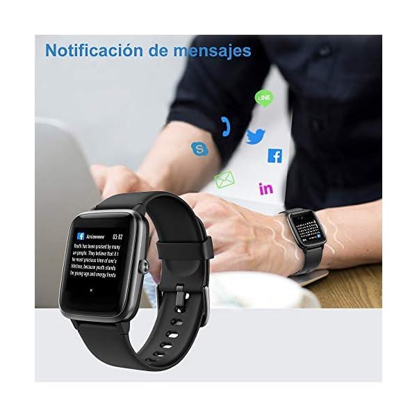 Willful Smartwatch,Reloj Inteligente con Pulsómetro,Cronómetros,Calorías,Monitor de Sueño,Podómetro Pulsera Actividad Inteligente Impermeable IP68 Smartwatch Hombre Reloj Deportivo para Android iOS 4