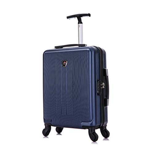 Toctoto 55x40x20cm Lightweight Ryanair Maximum Size Carry On Hand Cabin Luggage Suitcase, Bagaglio a Mano Unisex (Blu)