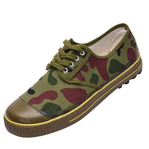 LSAltd Paar-Art- und Weisetarnungs-Breathable Befreiungs-Schuh-beiläufige rutschfeste haltbare schnüren Sich Oben Low-Top Segeltuch-Trainings-Schuhe -