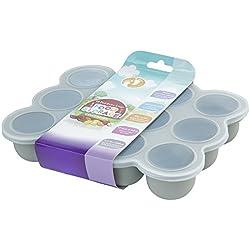 12 Set Pots de Conservation Moule en Silicone Repas pour Bébé convient pour Congélation Sans BPA Approuvé par FDA - Disponible sur Amazon- couvercle commun inclus - gris