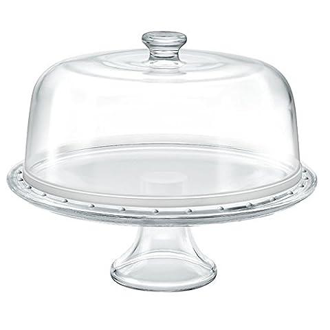 Présentoir à gâteaux plat pour servir Palladium Borgonovo en verre
