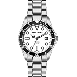 Marc & Sons Professional Diver's Watch–BGW9, Automatic Diving Watch,MSD-044-W