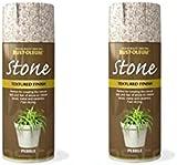 2x Rust-Oleum Textured Stone Effect Pebble Spray Paint - 400ml
