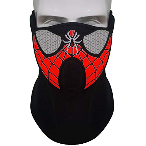 EisEyen LED Musikmaske Soundaktiviert Leuchtmaske Maske für Party Halloween Fasching Karneval Club