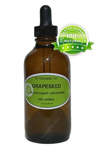 Grapeseed Oil For Skin Hair And Health 1 oz Amber Glass Bottle with Glass Dropper