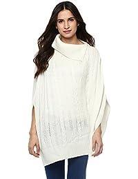 Cayman Women White Woolen Sweater