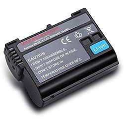 Expresstech @ EN-EL15 2000mah 7.2V de remplacement Li-ion Batterie avec info chip pour Nikon 1 V1 D7000 D7100 D7200 D600 D610 D750 D800 D800E D810A D850