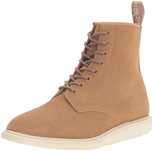 Dr. Martens Mens Whiton Hi Suede Waterproof Chukka Boot Biscuit