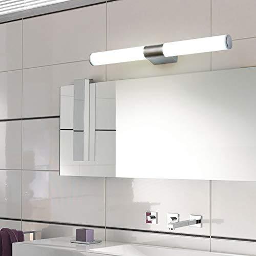 Xbeast Metall Gold Spiegel Vorne Lampe Weiß Gelb LED Vanity Badezimmer Licht Einfache Make-Up Wandleuchte Wandleuchte Spiegelleuchte Bild Vorne Lampe (Weiß)
