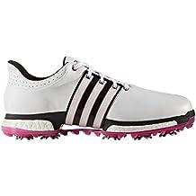 detailed pictures a6831 a3aa7 adidas Tour360 Boost Zapatos de Golf para Hombre, BlancoNegroRosa, 43.3