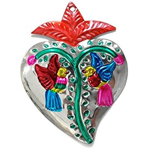 Fantastik - Corazón de hojalata artesanía mexicana (modelo plata)