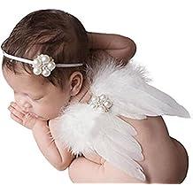 0–6meses Bebé cinta con ángel Muelle alas Disfraz fotográfico Tija Outfit