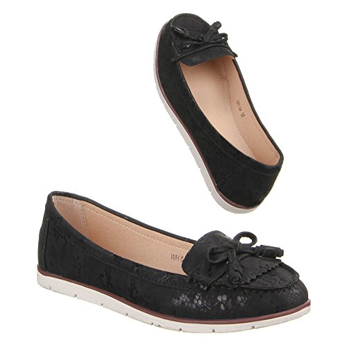 Chaussures mocassins femme chaussures wH04, mODERNE, mocassins femme Noir