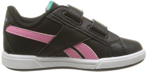Reebok Cl Solid Court 2v Baby Mädchen Babyschuhe - Lauflernschuhe Schwarz - Noir (Black/Pink/Emerald/Crisp)