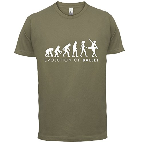 Evolution of Woman - Ballett - Herren T-Shirt - 13 Farben Khaki