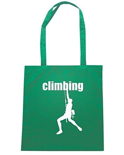 T-Shirtshock - Borsa Shopping SP0052 Climbing Man Maglietta Verde