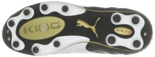Puma , Chaussures de Foot garçon Noir - Black/White/Gold