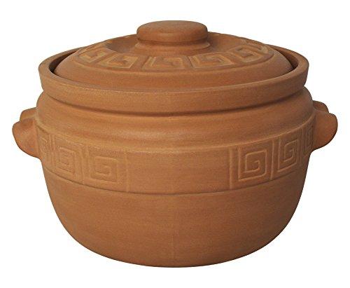 K&K Keramik Kartoffeltopf / Zwiebeltopf 5 Liter - unglasiert aus Steingut-Keramik