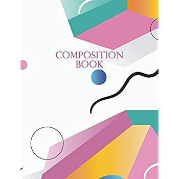 Composition Book: Memphis Pattern Lined Notebook | 150-Page Plain College Ruled Creative Journal | 8.5 X 11 Matte Softcover