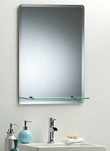 Neue Design Rectangular Bathroom Wall Mirror Modern Stylish With Shelf and Bevel Plain 3 Sizes - 70cm X 50cm, 60cm x 45cm or 50cm x 40cm (50cm x 40cm)