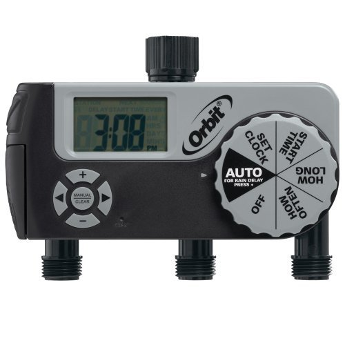 Orbit 56233D 3-Outlet Digital Watering Timer by Orbit -