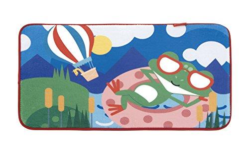 Fisher-Price Teppich Fleece Frosch 75 x 45 cm Mehrfarbig - Rechteckige Mehrfarbige Teppiche