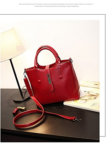 VOLSGEAT Borsa Messenger, Brown (marrone) - LZN_1938 Red