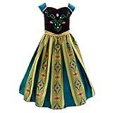 Die Eiskönigin - völlig unverfroren - Anna Krönungskleid Kostüm für Kinder (9-10 years)