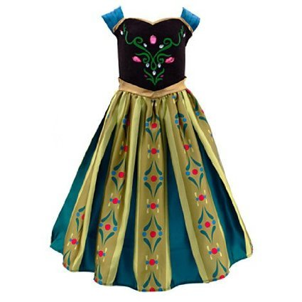 Die Eiskönigin - völlig unverfroren - Anna Krönungskleid Kostüm für Kinder (7-8 (Kostüm Kristoff Anna)