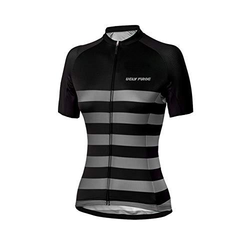 Uglyfrog New Bike Wear Damen Downhill/MTB Jersey Mountain Bike Shirt Fahrradtrikot Kurzarm Freeride BMX Dame