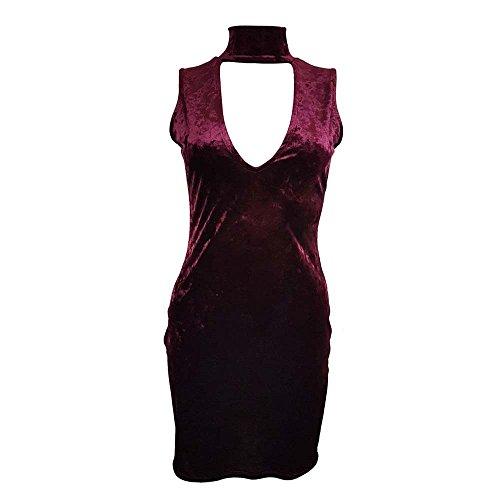 Generic Damen Kleid burgunderfarben