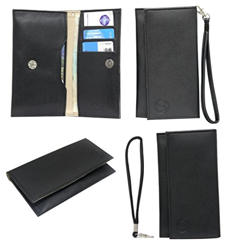 Jo Jo A5 Nillofer Leather Wallet Universal Pouch Cover Case For Samsung Primo S5610 Black  available at amazon for Rs.390