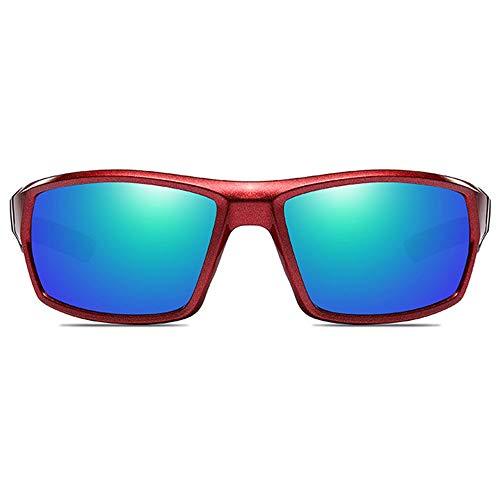 HYH Sport Im Freien Blendschutz Aluminium Magnesium Sonnenbrille Roter Rahmen Grüne Linse Männer Und Frauen Mit Der Gleichen Polarisierten Reitbrille Schönes Leben
