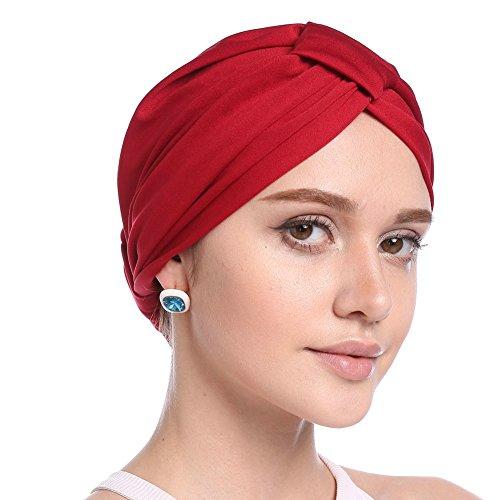 iBaste Turban Damen Kappe Muslime Kopftuch für Haarausfall Krebs Chemo Kopfbedeckung Kopftuch Set